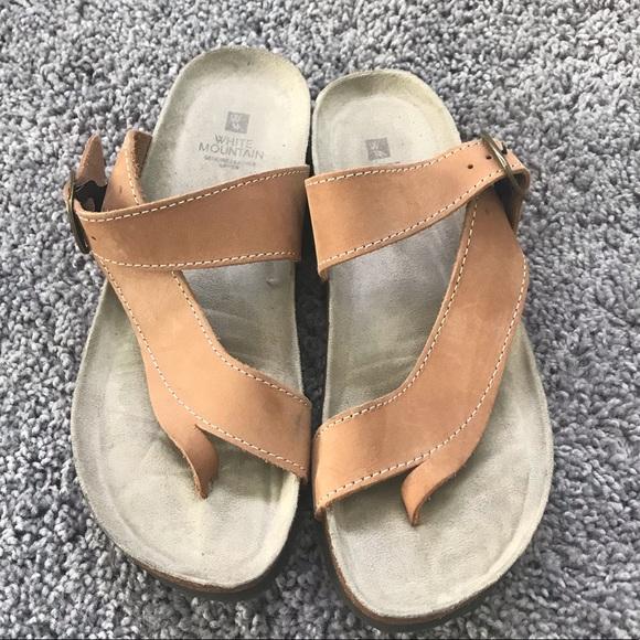23f1cba818f16d White Mountain Leather Sandal. M 5c5748bef63eeae3641857ec
